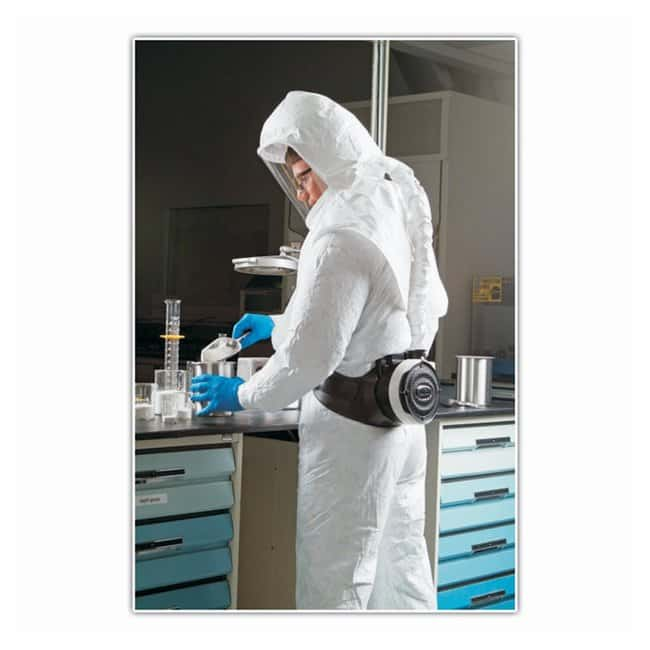 Bullard Tychem Replacement Hoods for Respirators HDPE QC; Double bib:Gloves,