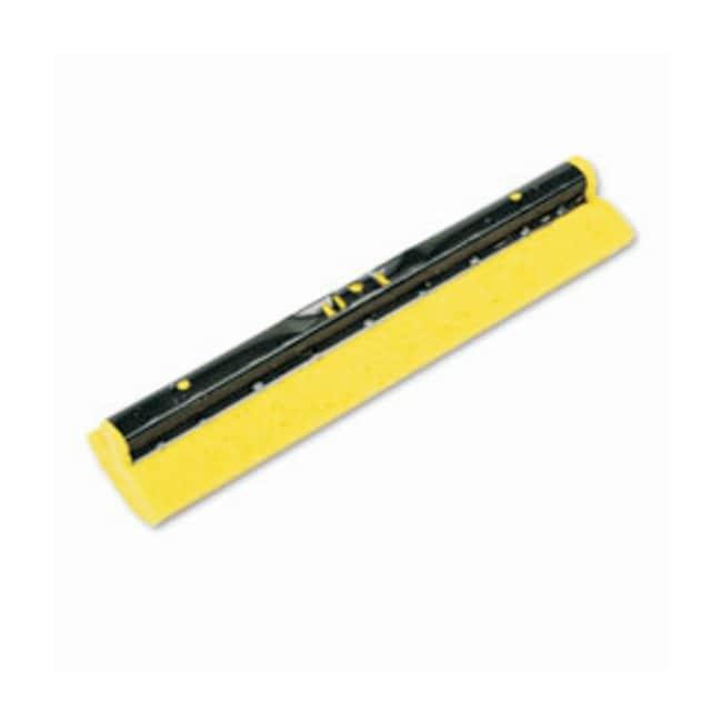 Rubbermaid Steel Sponge Mop/Double Pails 12 in. L; Yellow:Gloves, Glasses