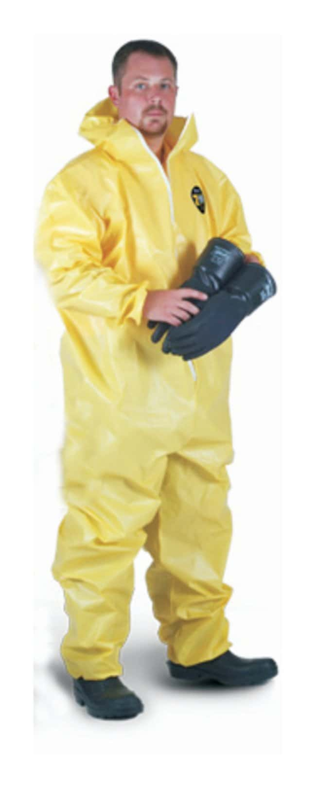 Kappler Zytron 100 Chemical-Resistant Coveralls Serged Seams; Collar, open