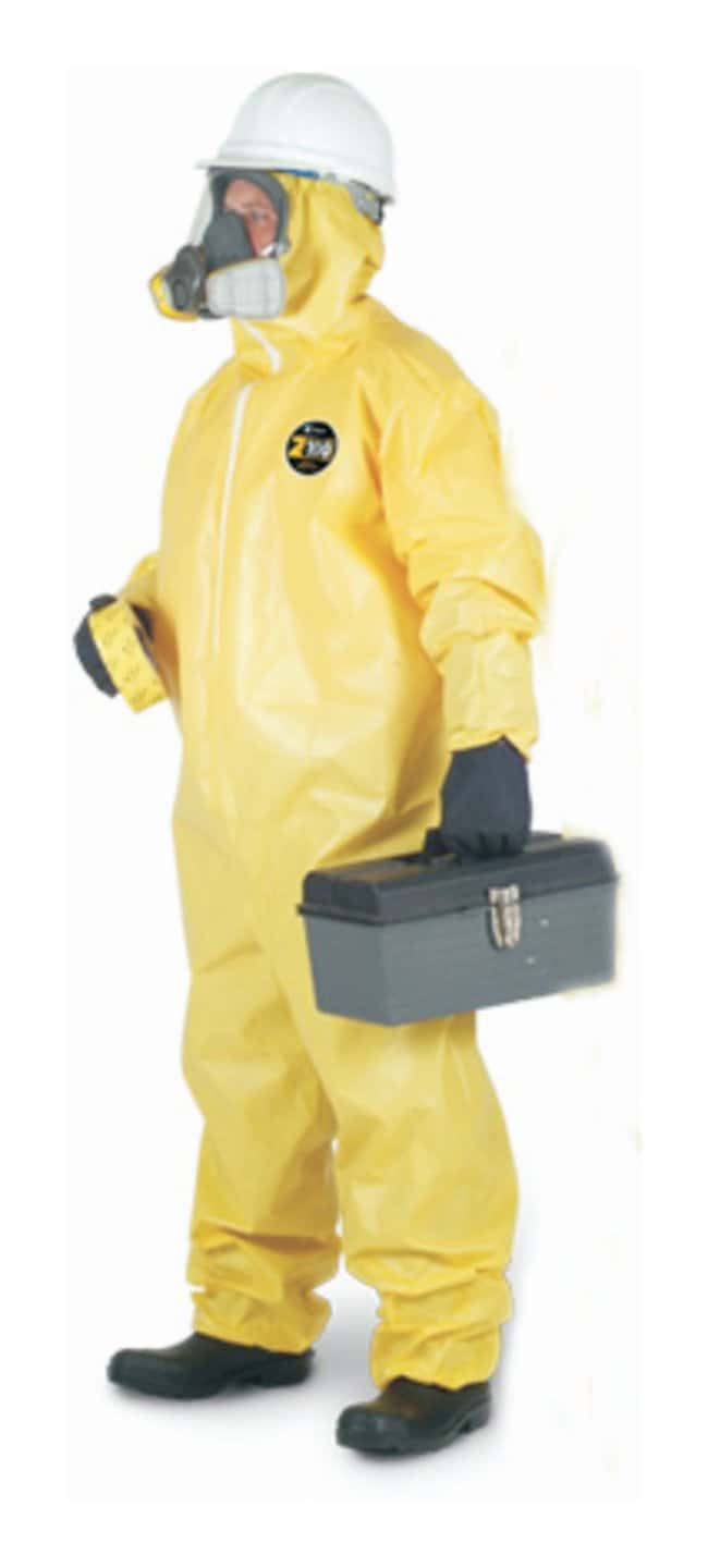 Kappler Zytron 100 Chemical-Resistant Coveralls Serged Seams; Attached