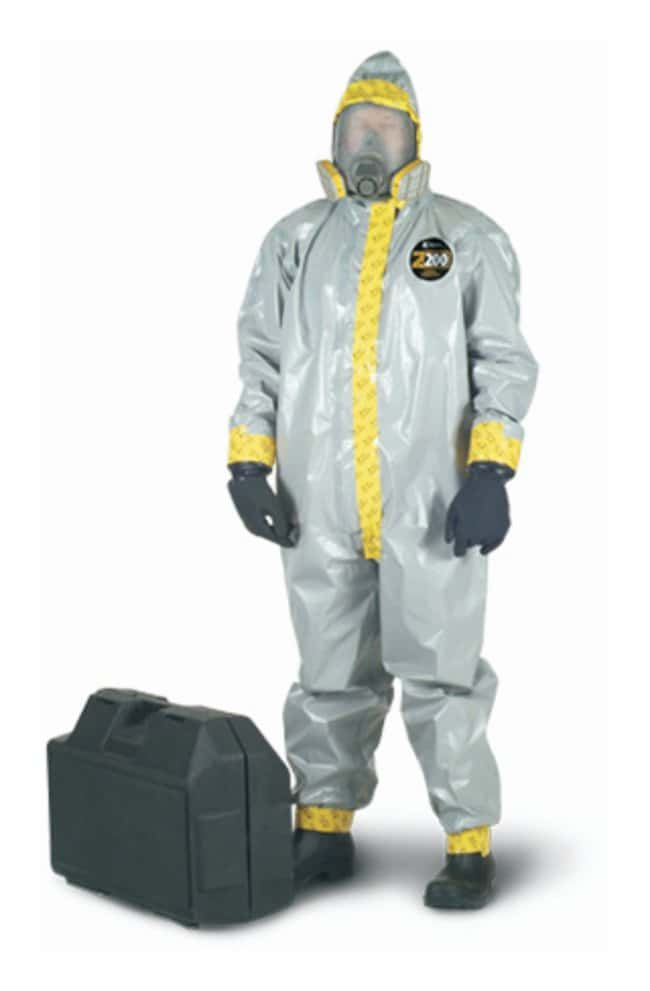 Kappler Zytron 200 Hooded Coveralls Heat-sealed and taped seams; Attached