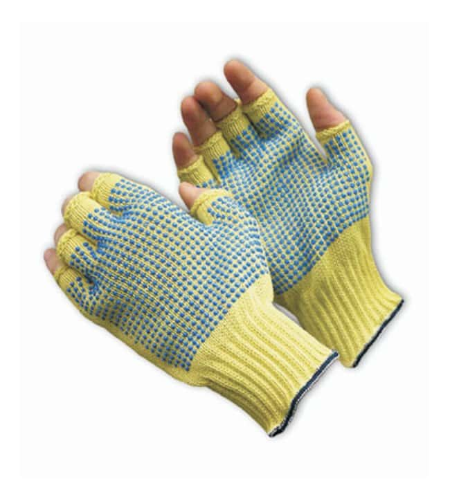 PIP Kut Gard Seamless Knit Aramid Fiber Half-Finger Gloves with Double-Sided