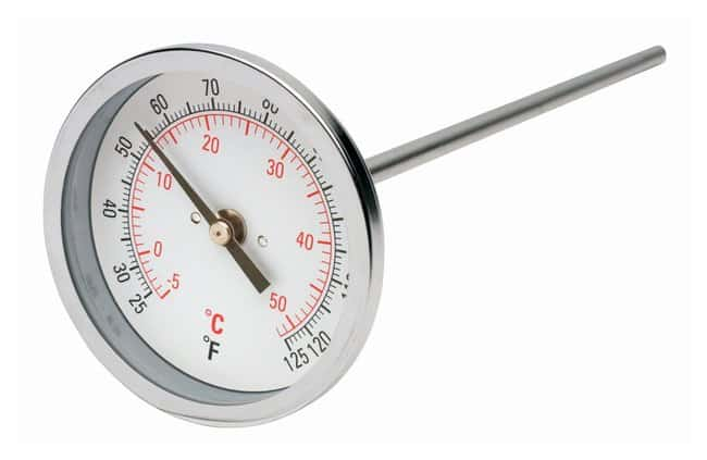H-B Instrument Durac Bi-Metallic Dial Thermometers - 75mm Dial Range: 0/50°C