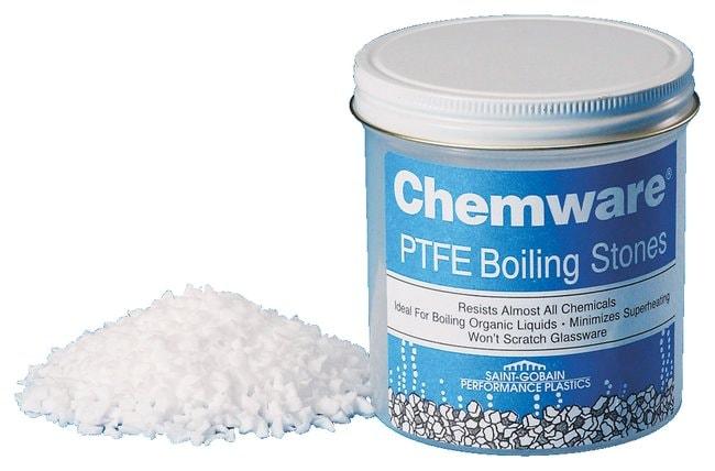 Saint-Gobain Chemware PTFE Boiling Stones 16 oz. (450g) plastic bottle:Beakers,