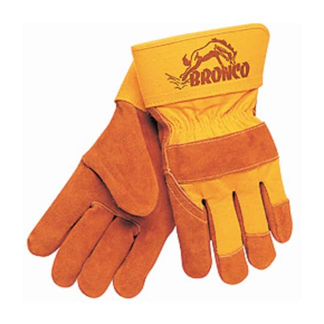 MCR Safety Cow Leather Gloves with Rubberized Cuffs Large:Gloves, Glasses
