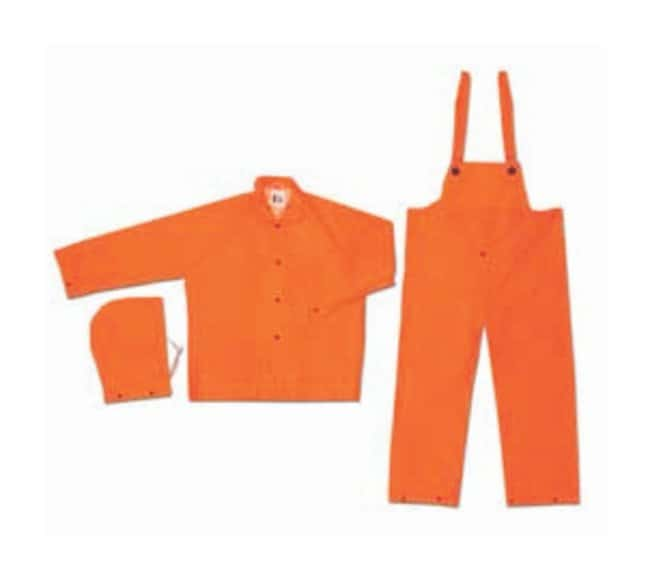 MCR Safety Three-Piece Rainsuit Orange; Large:Gloves, Glasses and Safety