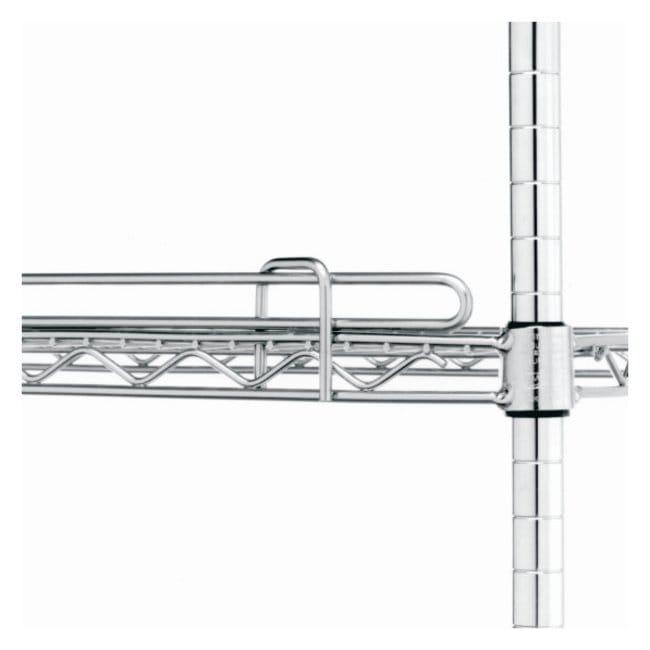 Metro™Super Erecta™ Wire Shelving Accessory, Shelf Ledge For wire shelf; Finish: Chrome; Height: 1 in. (2.5cm); Length: 14 in. (35.5cm) Metro™Super Erecta™ Wire Shelving Accessory, Shelf Ledge