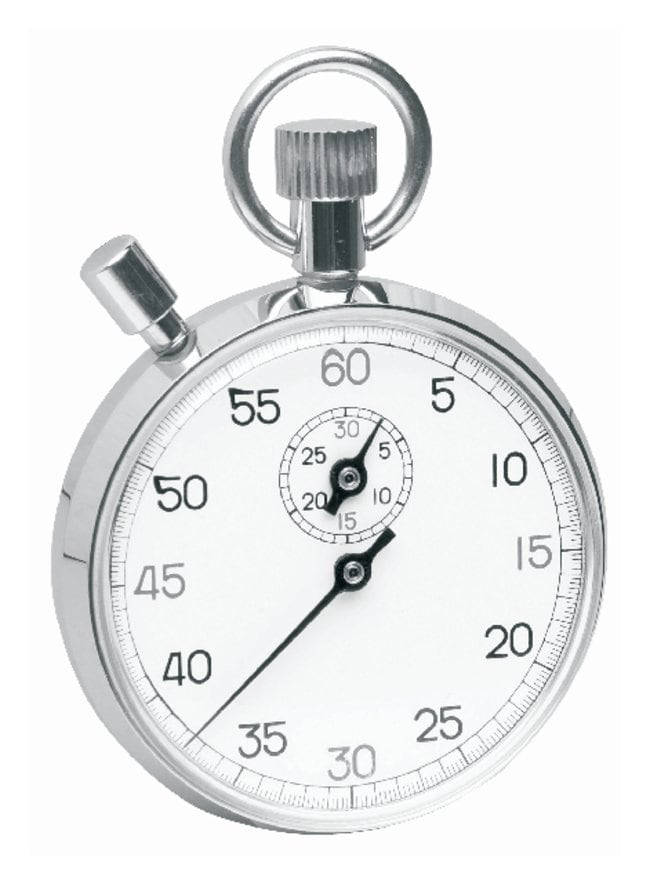 H-B InstrumentDurac Analog Stopwatch with Crown Stopper:Thermometers and