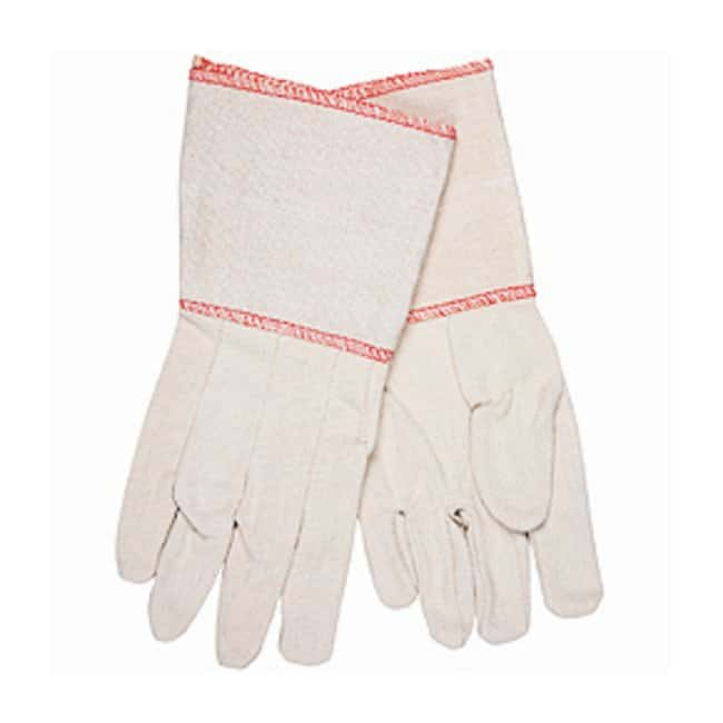 MCR Safety Woven Cotton Gloves Overlock in red; Large:Gloves, Glasses and