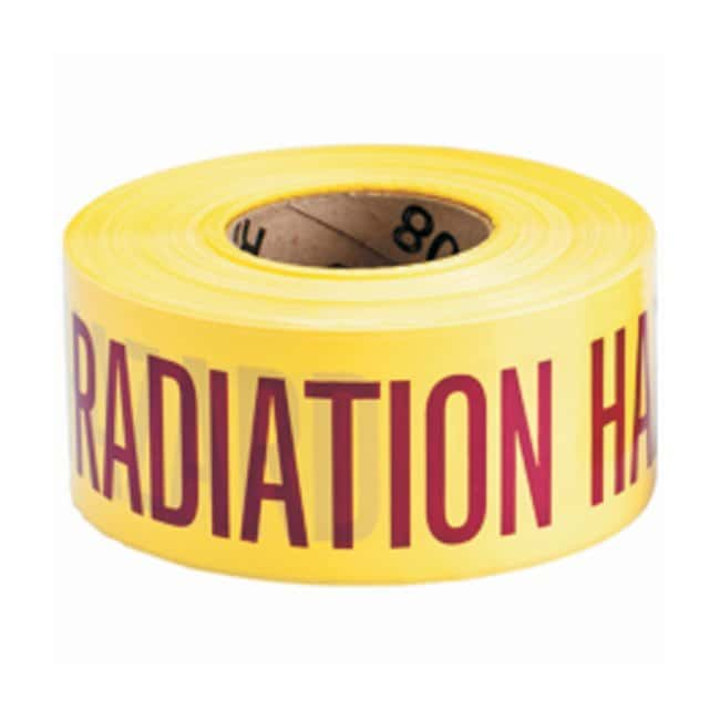 Brady ID Safety Tapes Legend: CAUTION RADIATION HAZARD:Gloves, Glasses