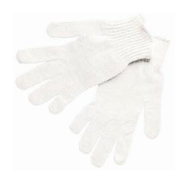 MCR Safety Regular Weight String Knit Gloves Blue hem; Medium:Gloves, Glasses