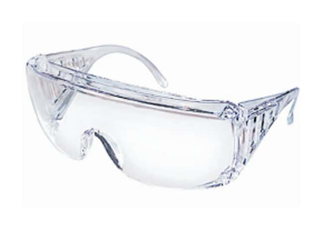 MCR Safety YukonVisitor Safety Glasses Clear frame; Clear Uncoated Lens:Gloves,