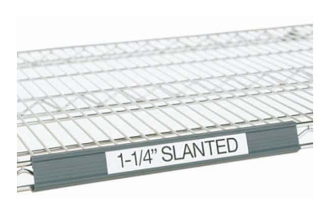 Metro Slanted Label Holders for Wire Shelving :Furniture, Storage, Casework,