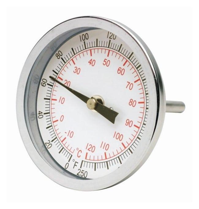 H-B Instrument Durac Bi-Metallic Dial Thermometers - 75mm Dial Range: 50/300°F;