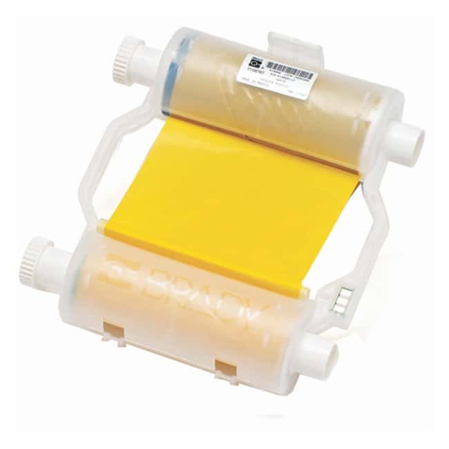 Brady BBP Heavy-Duty Print Ribbon Yellow; To print onto white:Gloves, Glasses