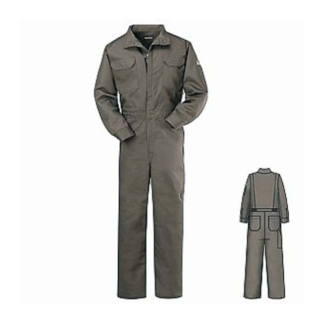 VF Workwear Bulwark Deluxe Grey Flame Resistant Coveralls Gray; Long; Size: