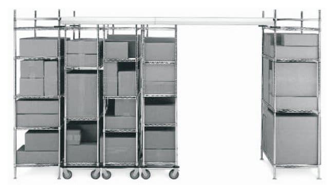 Metro™Kits d'unités intermédiaires fixes à double profondeur et rail supérieur Largeur de l'étagère: 18po (45,7cm) Metro™Kits d'unités intermédiaires fixes à double profondeur et rail supérieur