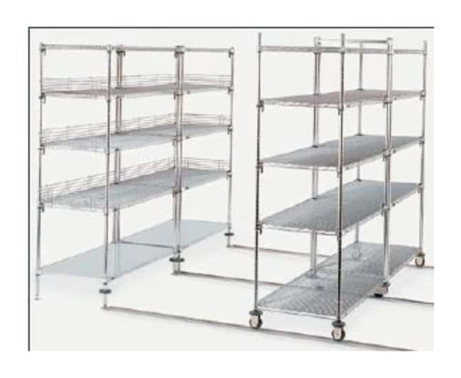 Metro™Double-Deep qwikTRAK™ Mobile Unit Kits Stainless steel; 24 in. (610mm) Metro™Double-Deep qwikTRAK™ Mobile Unit Kits