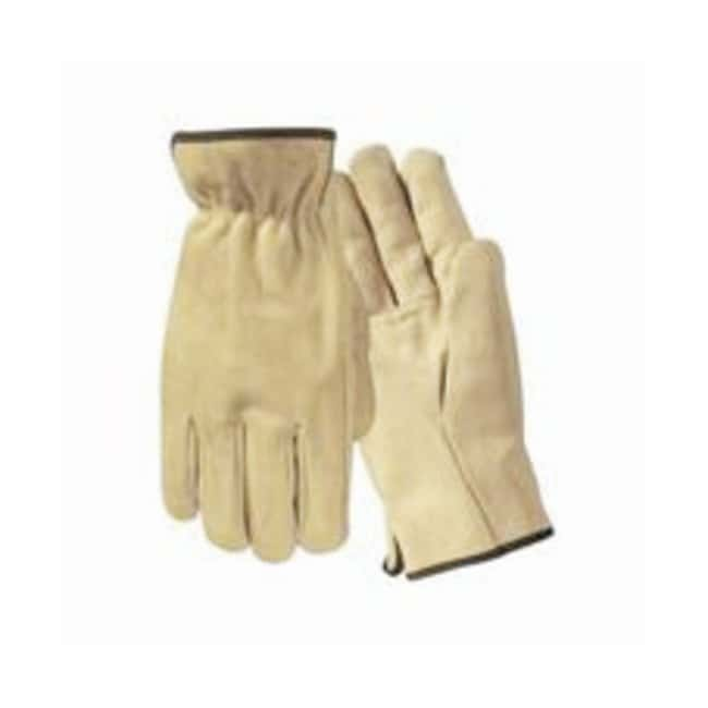 Wells Lamont Gunn-Cut Grain Cowhide Leather Drivers Gloves with Bound Hem