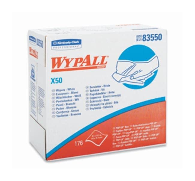 Kimberly-Clark Professional WypAll X50 Cloths  White; 9.1 X 12.5; Pop-up