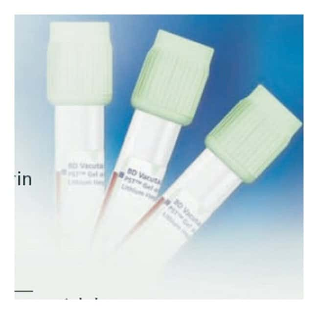 BDVacutainer Plastic Blood Collection Tubes - PST Plasma Separation Tubes: