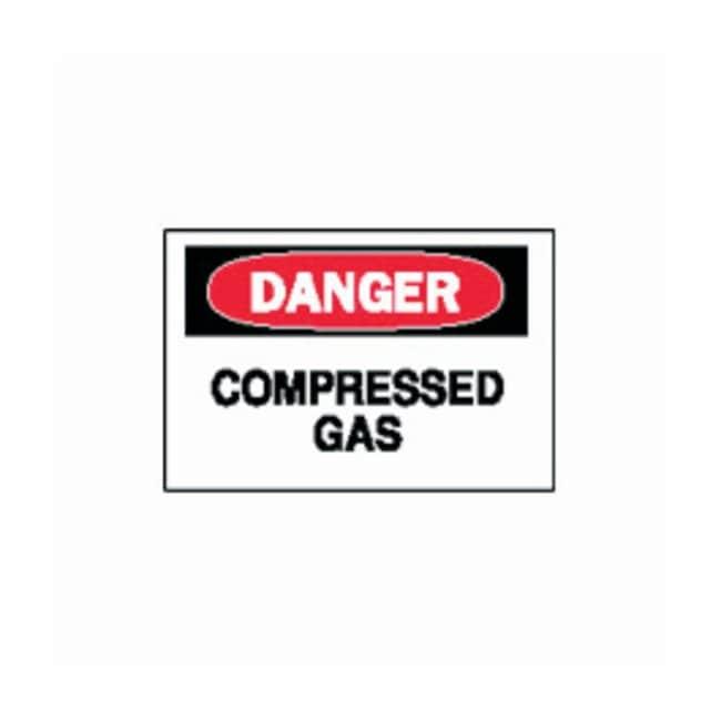"Brady™""Danger: Compressed Gas"" Signs"