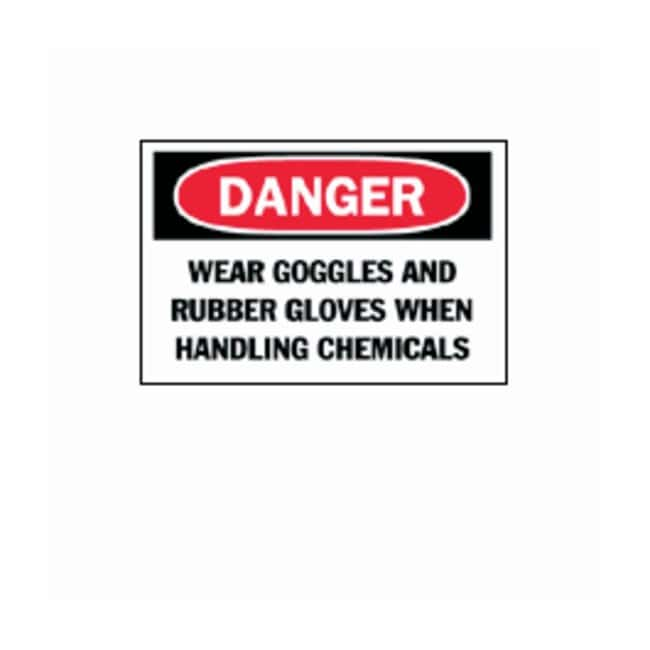 "Brady™ ""Danger: Wear Goggles And Rubber Gloves"" Signs"