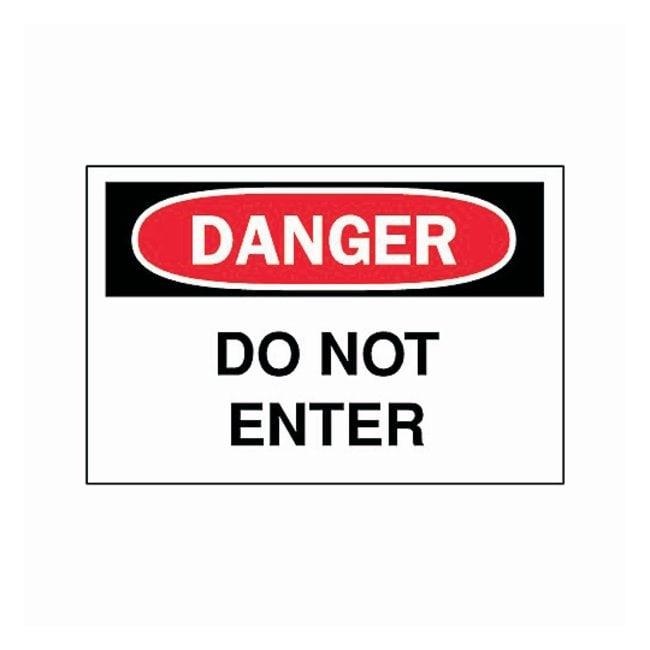 "Brady™""Danger: Do Not Enter"" Signs"