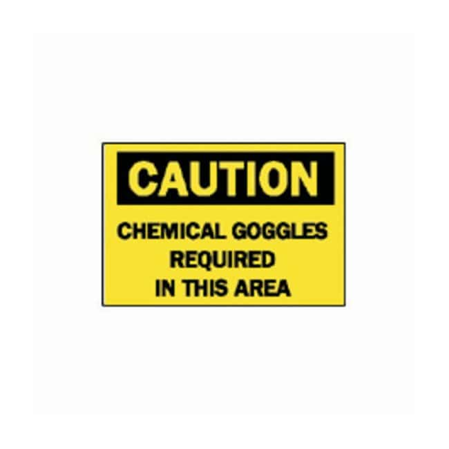 "Brady™ ""Caution: Chemical Goggles Required…"" Laboratory Signs"