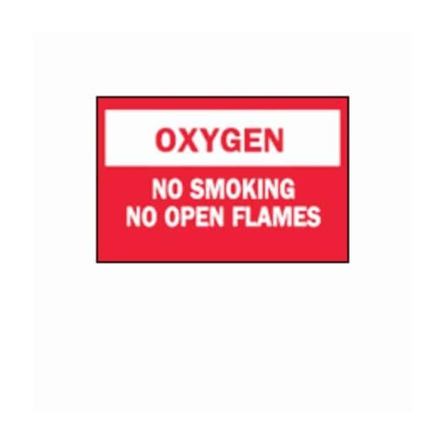 """Brady™""""Oxygen: No Smoking..."""" Signs"""
