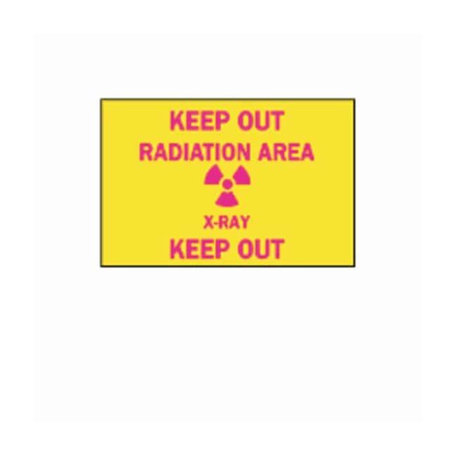 "Brady™""Keep Out: Radiation"" Laboratory Signs"