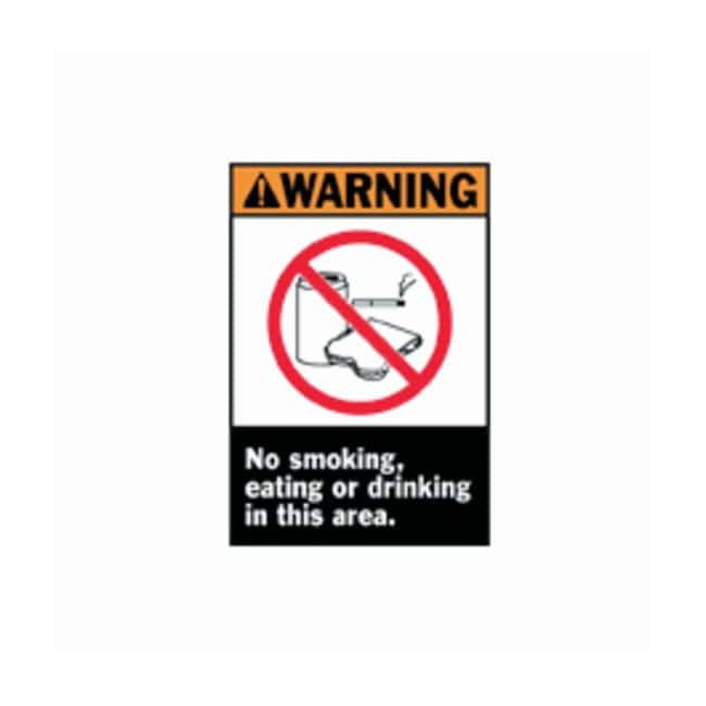 Brady™ ANSI Z535 Safety Signs (WARNING): No Smoking, Eating or Drinking In This Area