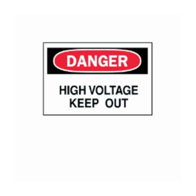 Brady Danger High Voltage Signs Legend: Danger High Voltage Keep Out; Fiberglass;