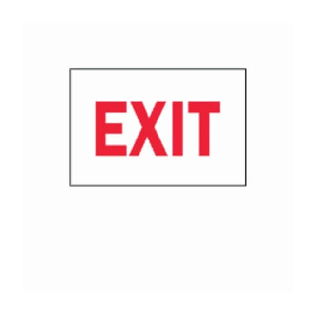 Brady Exit and Directional Signs Sign: Exit; Aluminum; Red on White; 7H