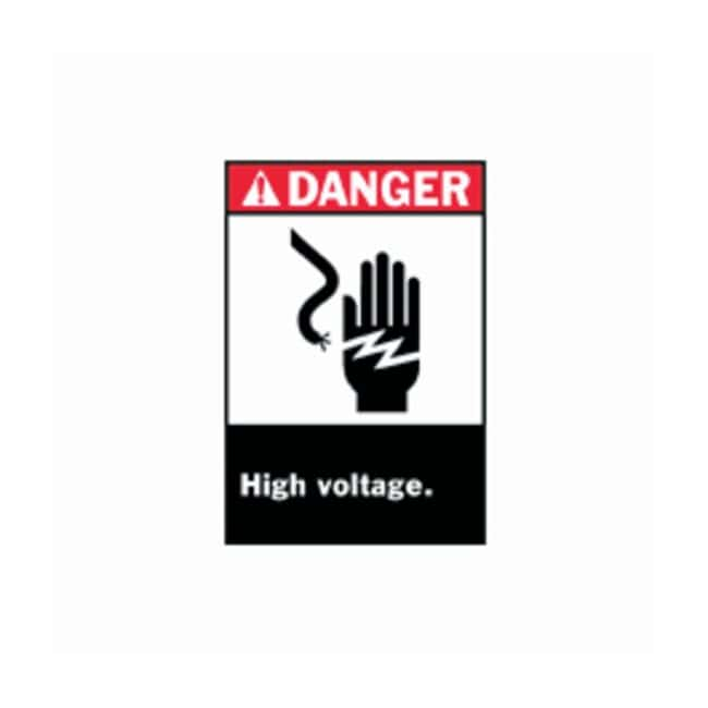 Brady Danger High Voltage Signs Legend: Danger High Voltage Unauthorized