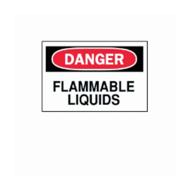 Brady™Chemical and Hazardous Materials Signs: DANGER - FLAMMABLE LIQUIDS