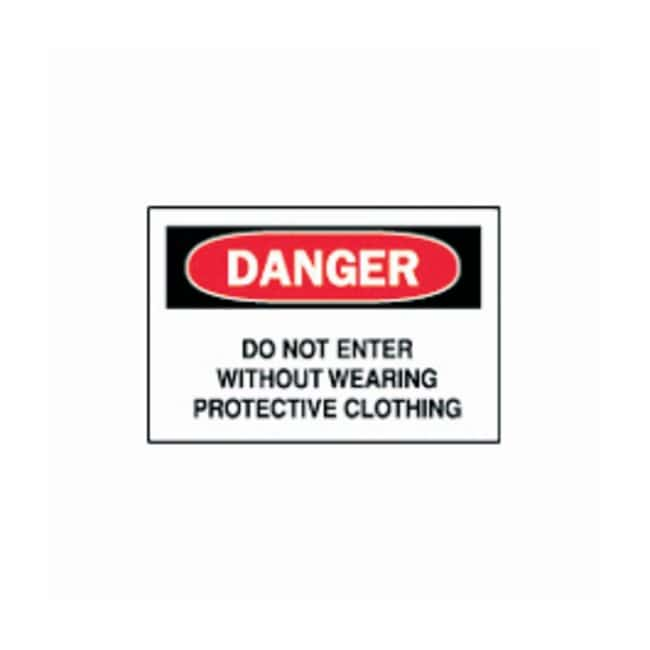 """Brady™""""Danger: Do Not Enter Without Wearing Protective Clothing"""" Signs"""