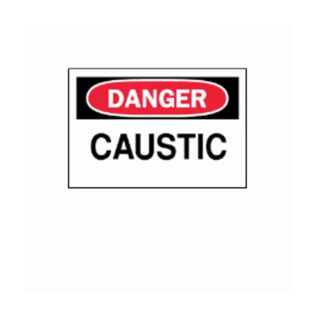Brady Danger: Caustic Signs Self-sticking polyester; W x H: 25.4 x 17.7cm