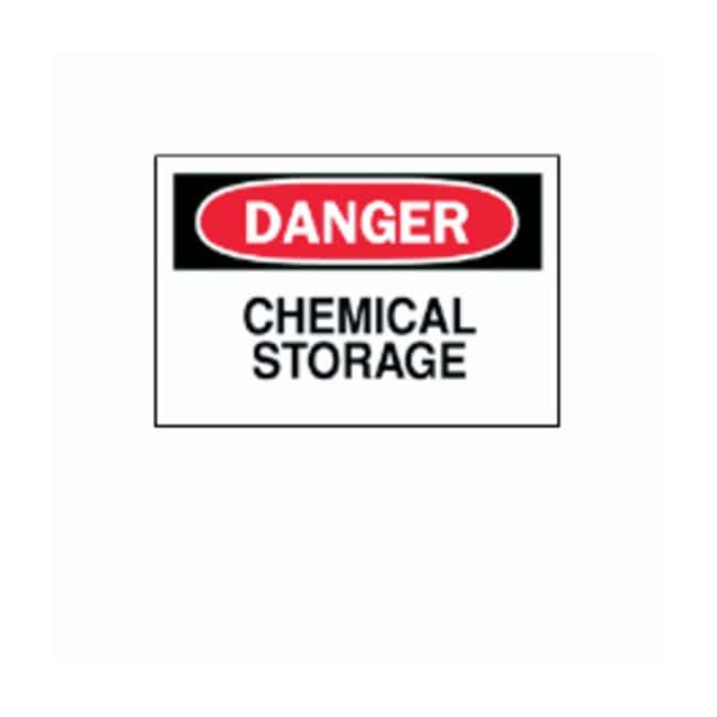 "Brady™""Danger: Chemical Storage"" Signs"