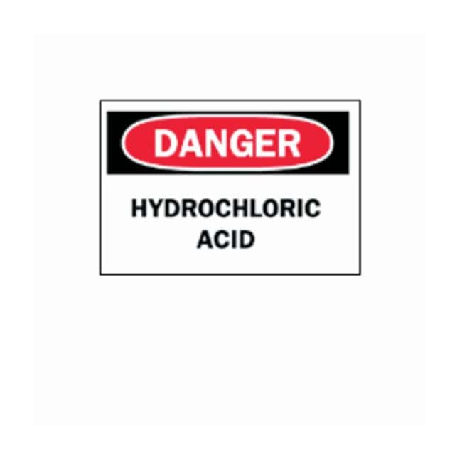 Brady™ Signs: Danger Hydrochloric Acid