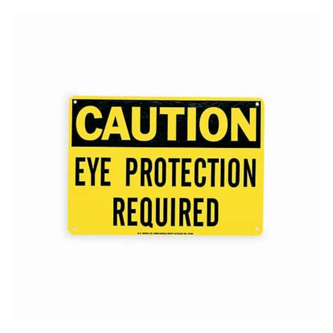 """Brady™""""Caution: Eye Protection Required"""" Signs"""