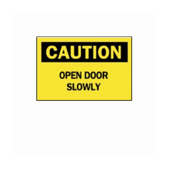 "Brady™ ""Caution: Open Door Slowly"" Signs"