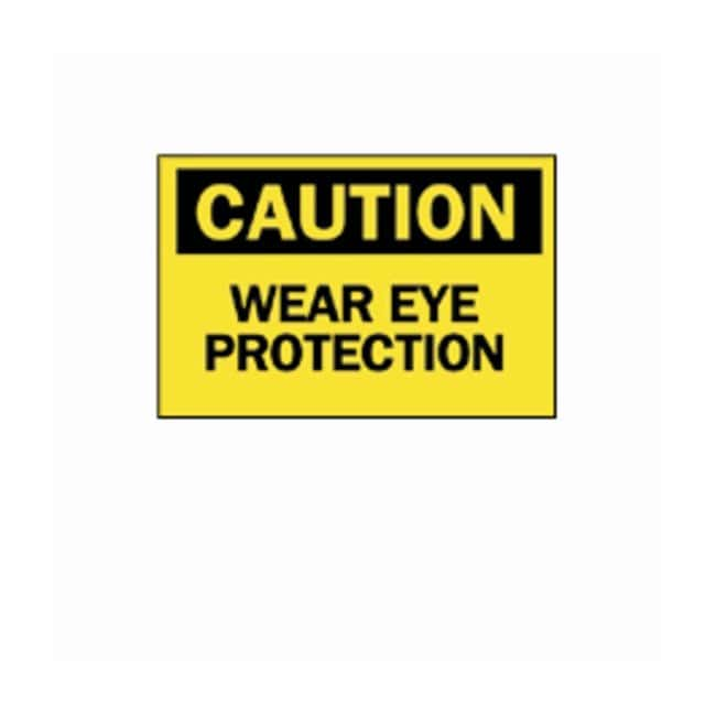 "Brady™ ""Caution: Wear Eye Protection"" Signs"