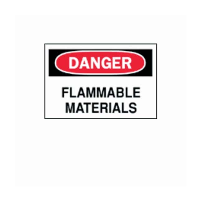 Brady™Chemical and Hazardous Materials Signs: DANGER - FLAMMABLE MATERIALS