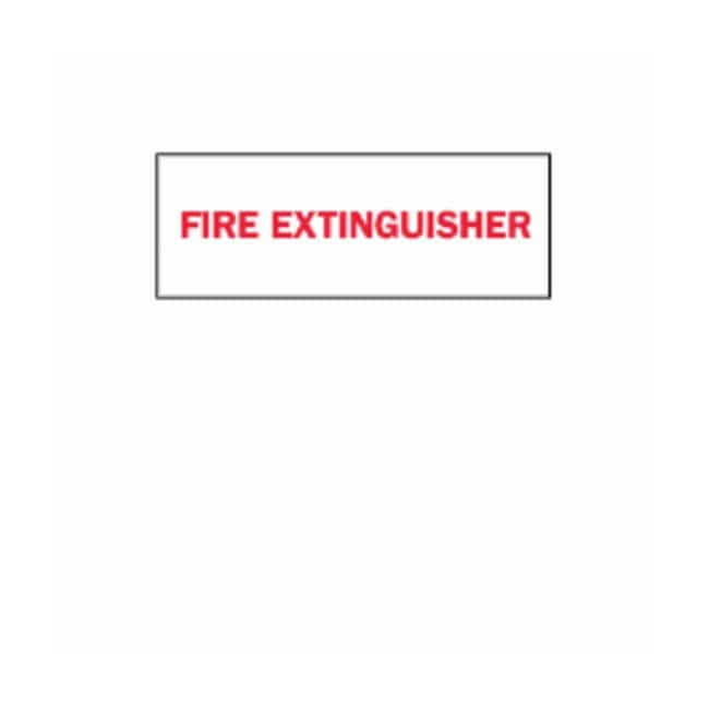 Brady Fire Extinguisher Signs FIRE EXTINGUISHER; Self sticking polyester;