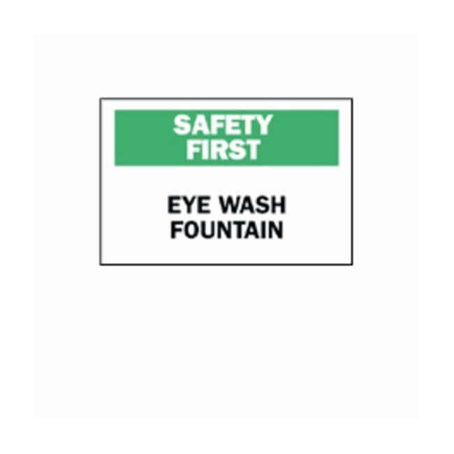 "Brady™ ""Safety First"" Eye Wash Fountain Sign"