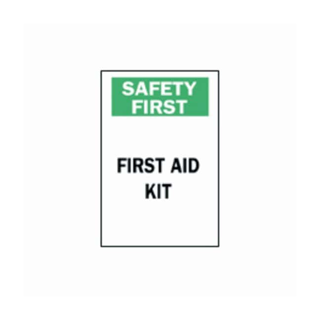 """Brady™""""Safety First"""" First Aid Kit Sign"""
