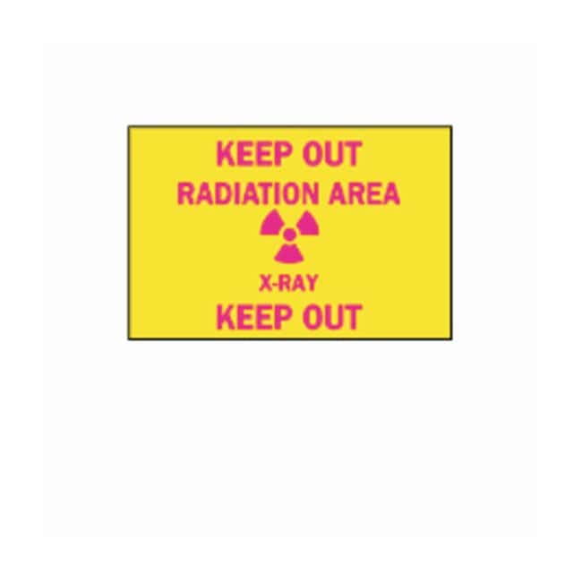 "Brady™ ""Keep Out: Radiation"" Laboratory Signs"