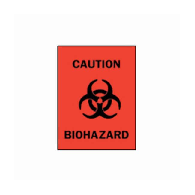 Brady Biohazard with Pictogram Signs  Self-sticking polyester; H x W: 12.7