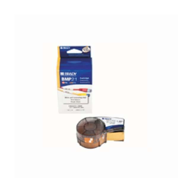 Brady™BMP™ 21 ID Pal™ Etikettenkassetten: Selbstlaminierendes Vinyl 1.5 Zoll B; 14Fuß H; Selbstlaminierung; Schwarz auf Weiß/Durchsichtig Brady™BMP™ 21 ID Pal™ Etikettenkassetten: Selbstlaminierendes Vinyl